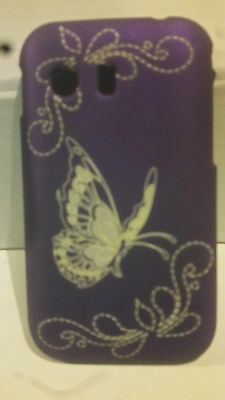Samsung Galaxy Y S5360 Purple Butterfly Hard Back Shell Case