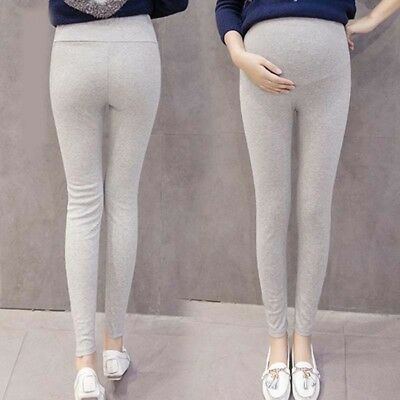 Maternity Leggings Full Length Over Bump Pregnancy Stretch Pants Casual Trousers