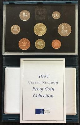 1995 Royal Mint UK Proof Coin Set In Blue Standard Case With C.O.A