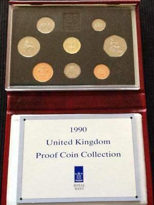 Great Britain 1991 Deluxe Proof Coin Set, Red Case with COA