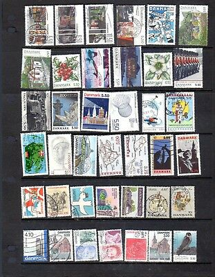 39 all different used stamps from Denmark