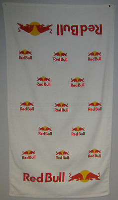 """Lot of 2 Offical Red Bull Towels Printed Both Sides - 24""""x42"""" Velour Towel"""