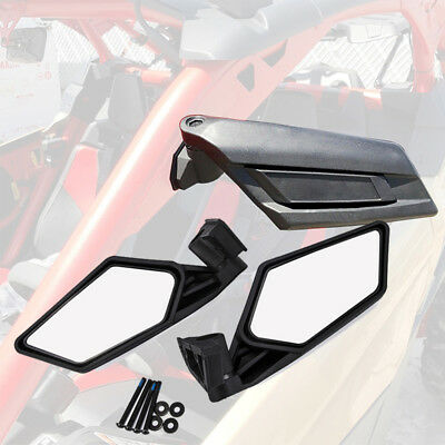 10pc Motorcycle Rear View Handle Bar End Side Mirrors for UTV Can Am Maverick X3