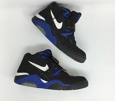 buy online 8154b 74eb7 Nike 310095-011 Air Force 180 Men s Size 10.5 Black Sport Royal Charles  Barkley