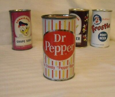 Tough to Find Dr. Pepper Flat Top Pop Can - Pre Zip 1960