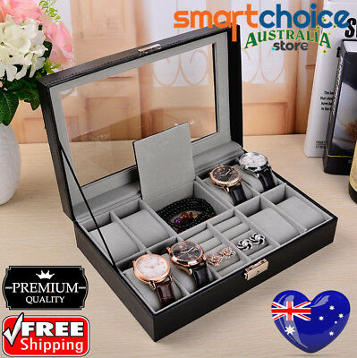 Sydney Luxury Watch Jewelry Storage Holder Box Wrist Watch Display Case Gift