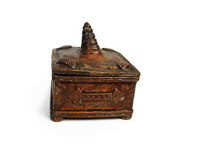 African Tribal Rare Antique Akan Ashanti Cast Bronze Ornate Gold Sand Box 5