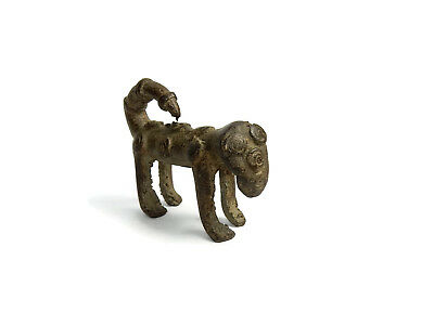 Rare Antique African Bronze Ashanti Gold Weight a leopard 3