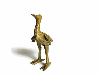 Rare Antique African Bronze Ashanti Gold Weight - a bird 4