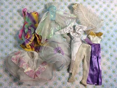 Vtg Lot Of Barbie Clothes And Accessories Dresses 80s 90s Gowns Fashion