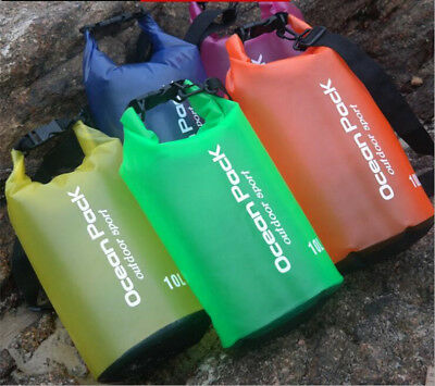 2L 5L 10L Waterproof Dry Bag Backpack Pouch Floating Boating Kayaking Camping