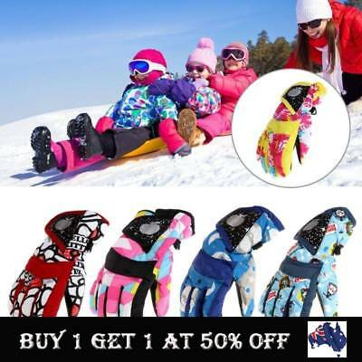 Child Kids Boy Girl Winter Snow Waterproof Warm Gloves Ski Snowboard Wind