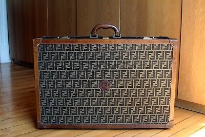 RARE Authentic Vintage Antique FENDI Trunk Hard Suitcase Luggage Zucca FF