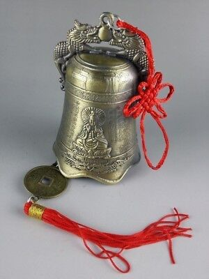 Collectibles Chinese Tibetan Buddhism Temple Copper Brass Bronze Bells Statues