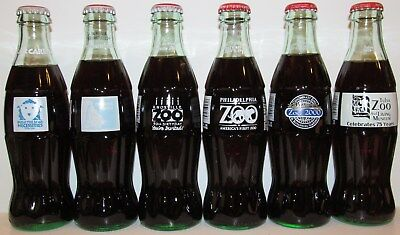 Coca-Cola Zoo Tulsa Omaha Knoxville Philadelphia Cincinnati Six 6 Coke Bottles
