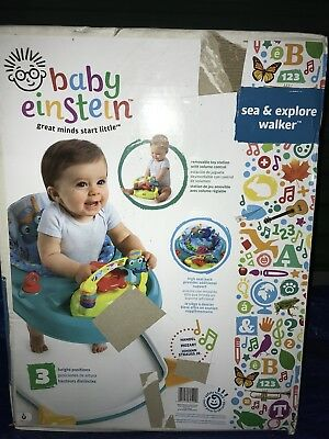 Baby Einstein Sea Explore Walker Infant Activity Play ~ Learn ~ Entertain Baby
