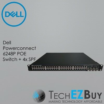 Dell Powerconnect 6248P POE Switch + 4x SPF