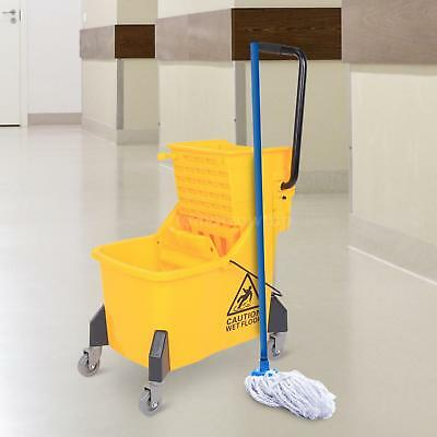 11 Gallon Easy Spinning Rolling Mini Side Press Mop Bucket with Wringer