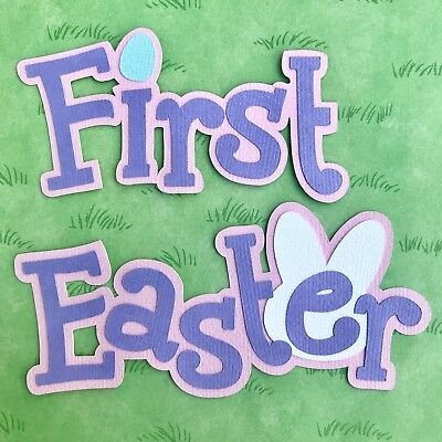 First Easter (girl) scrapbook title
