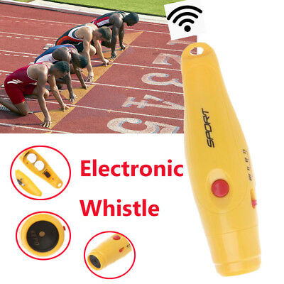 Electronic Whistle Hand-Held Three Tone for Outdoor Sports Basketball w// Laniard