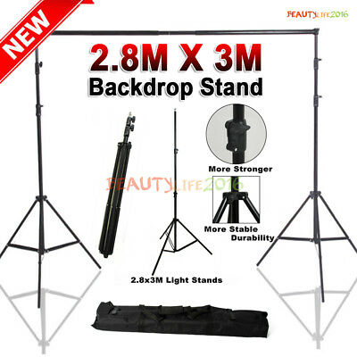 Heavy Duty Photography Photo Studio Background Vinyl Backdrop Support Stand Kit