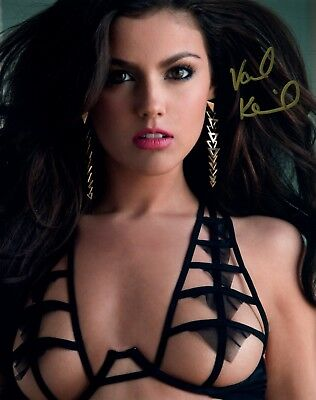 VAL KEIL Autograph Signed Photo 8x10 #57 PLAYBOY PLAYMATE AUGUST 2013 MODEL
