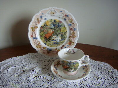 Royal Doulton * Brambly Hedge ~ Cup,Saucer & Plate trio  ~ 1998 year plate set