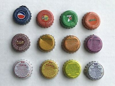 Mexican Soft Drink Bottle Caps. Old.