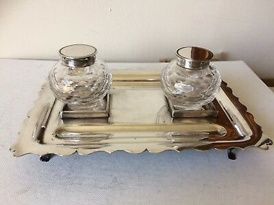 Mappin & Webb Double Partners Ink Stand Superb Condition