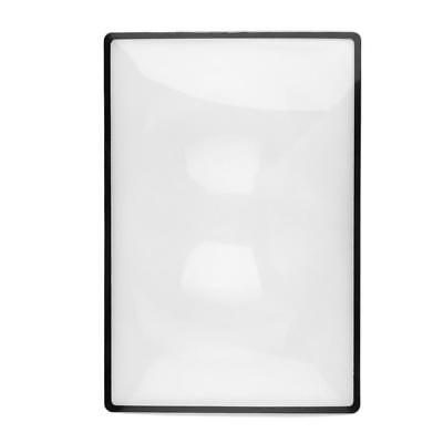 A5 Flat PVC Magnifier Sheet X3 Magnifying Reading Book Page Glass Lens s