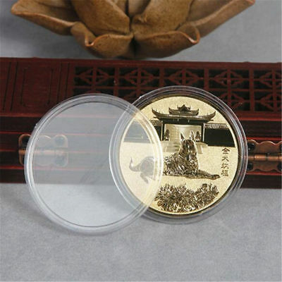 2018 Year Of The Dog Commemorative Gold/Silver Coins Collection Gifts 40mm