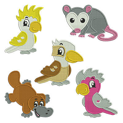 Australian Animals * Machine Filled Embroidery Patterns ** 5 Designs, 4 sizes