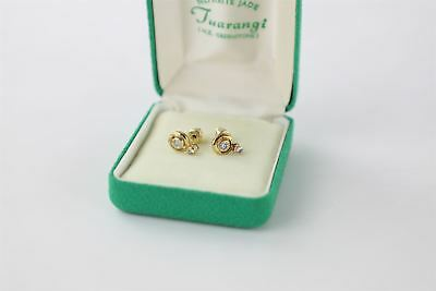 Stunning boxed elegant stamped  15CT GOLD STUD EARRINGS 2.46g unboxed