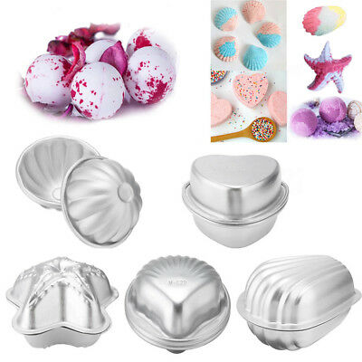 2pcs Aluminum Bath Bomb Molds Cake Pan Baking Pastry Moulds DIY Crafting Gifts S
