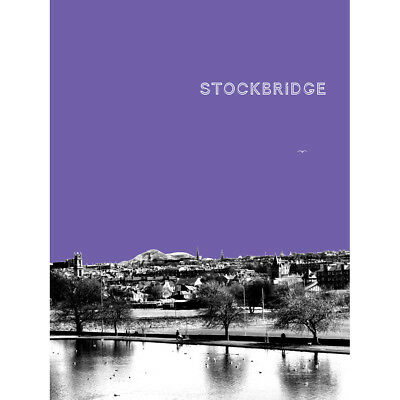 Inverleith Edinburgh Scotland Scottish Landmark Purple Canvas Print