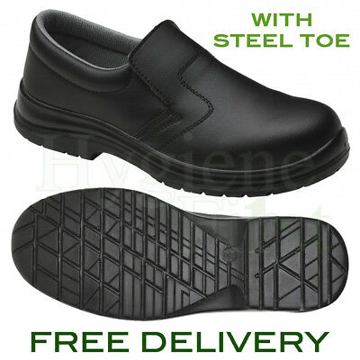 Supertouch (94470) Food X Slip-On Safety Work Shoes - Steel Toe - Black