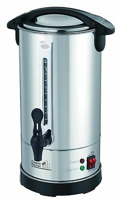 40 Cup Stainless Steel Double Wall Insulated Hot Water Urn - Water Boiler with