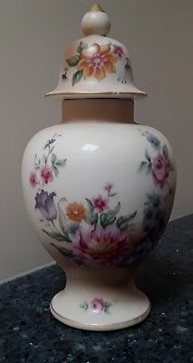 Hall Ginger Jar and lid with Flowers Made in Japan
