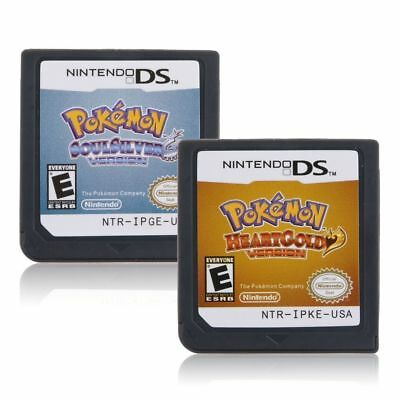 Pokemon Game Cards SoulSilver HeartGold for Nintendo 3DS NDSI NDS NDSL Lite2 US