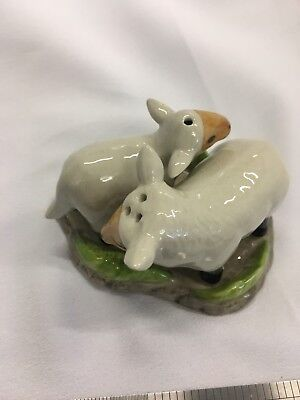 Salt And Pepper Shaker Porcelain Sheep Animal Figurines