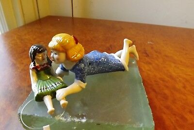 VILLEROY AND BOCH CHRISTMAS Festive Ornament Small girl Playing with Doll WOW