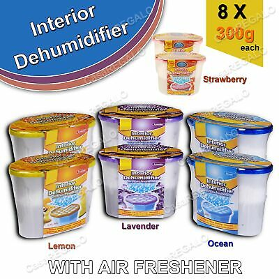 6pcs Dehumidifier Moisture Absorber Damp Dryer Closet Remover Air Freshener