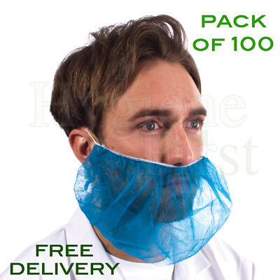 Supertouch (15210) Non-Woven Disposable Beard Mask - Pack Of 100 - Blue