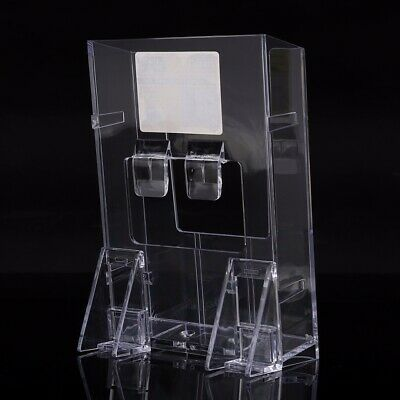 Clear Acrylic Holder Brochure Desk Stand Pamphlet Catalog Display Durable K-301