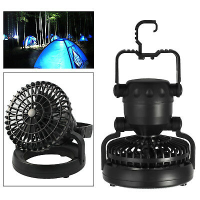 18 LED Camping Fan Light lantern Combo Flashlight and Ceiling Fan Outdoor 2-in-1