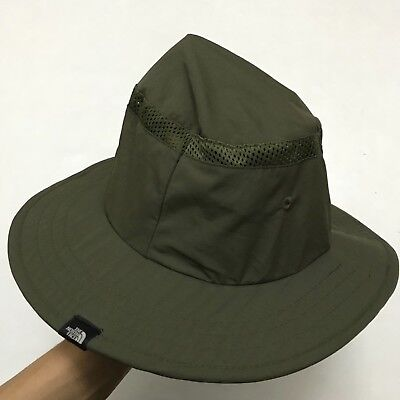 THE NORTH FACE Bucket Hat Green Nylon Cap Army Military Outdoor ... 1d40918e5352