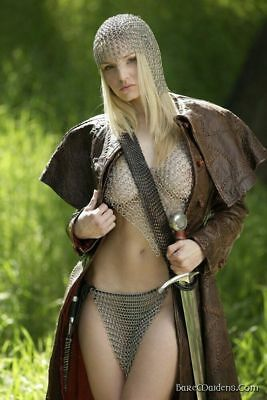 Chain Mail Medieval Bra Cap And Pantie For Women Reenactment & Reproductions