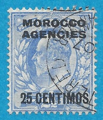 Morocco Agencies 38 Used Spanish Currency  Edward VII
