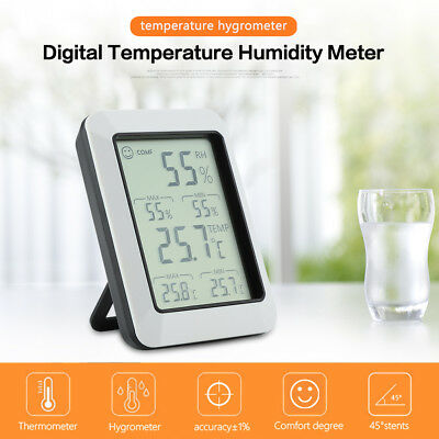 LCD Electronic Wireless Digital Max/Min Temperature Humidity Meter New
