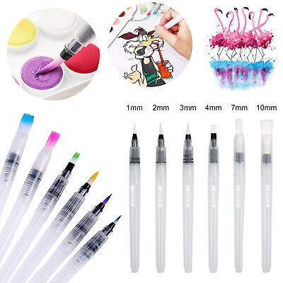 6 pcs Sizes Soft Water Brush Ink Pen Calligraphy Paint aquarelle Drawing Tools